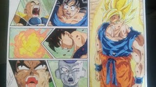 getlinkyoutube.com-DRAGON BALL Z HOW TO DRAW GOKU SSJ SUPER SAIYAN SAYAJIN DRAWING DIBUJO 図 悟空超サイヤ人