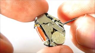 getlinkyoutube.com-MIYOTA / CITIZEN 2036 ANALOGUE QUARTZ WATCH MOVEMENT BATTERY SR626SW / 377