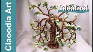 getlinkyoutube.com-Drzewo z papierowej wikliny (Tree from newspaper, wicker paper)