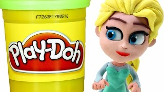 getlinkyoutube.com-FROZEN Elsa Play doh STOP MOTION videos: Disney Playdough Toy Eggs