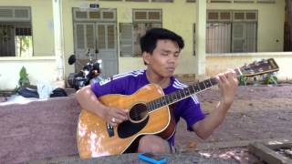 getlinkyoutube.com-How to play guitar arom trov ka oun by EK KEARPIRAK