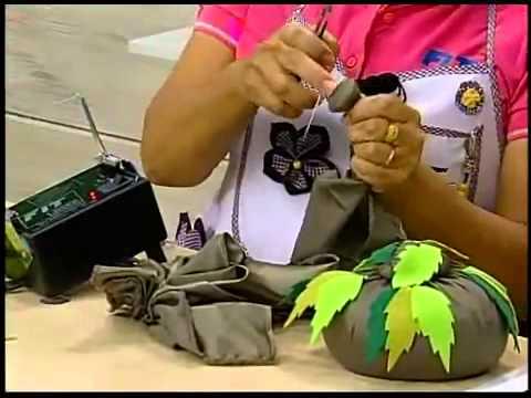 Programa Arte Brasil - 20/02/2014 - Peso de Porta com Flor Japonesa - Yvone Lobato