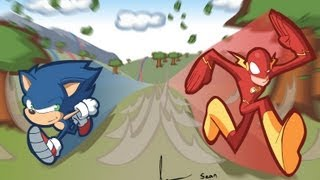 Character Compare (Sonic the Hedgehog vs The Flash)