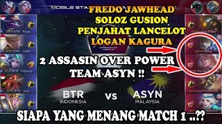 ASYN (Malaysia) vs BTR (Indonesia) MSL: Mobile Legends Season 1 - Week 2 Match 1