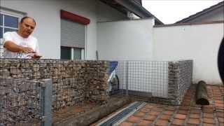getlinkyoutube.com-Gabione ( Steinmauer ) einfach selbst bauen