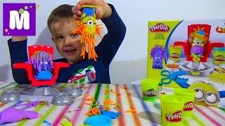 getlinkyoutube.com-Миньоны набор пластилина распаковка Плейдо игрушки Minions Play-Doh set toys
