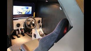 getlinkyoutube.com-Logitech G27 Fully Enclosed Racing Simulator Cockpit - Tilnic Sims - V.1