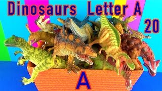 getlinkyoutube.com-DINOSAUR Box 20 TOY COLLECTION Dinosaurs LETTER A Dino Kids Toy Review  SuperFunReviews