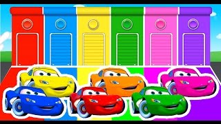 getlinkyoutube.com-Learn Colors with Lightning McQueen and Colour Cars For Kids - Learning Numbers Videos