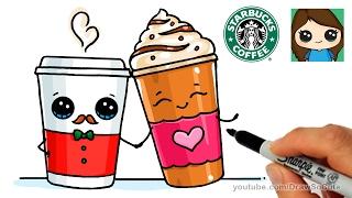 getlinkyoutube.com-How to Draw Cute Starbucks Inspired Drinks - Frappucino & Latte