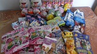 getlinkyoutube.com-43 Blind bags surprise eggs opening Kinder Disney Japan Furuta Maxi Star Wars Monsters University 1.