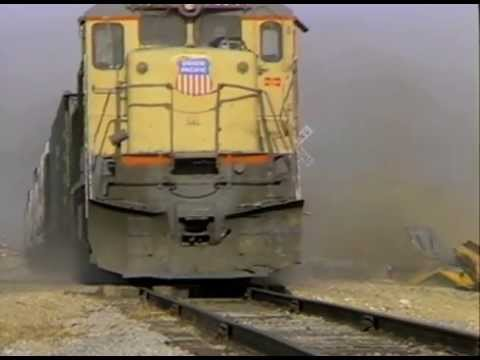 Train School Bus Crash Extreme Slow Motion
