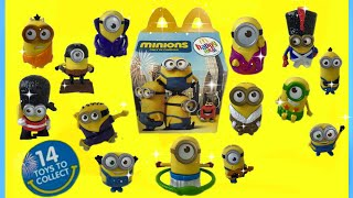 getlinkyoutube.com-Minions Movie 2015 McDonalds Happy Meal Toys 14 Full Set