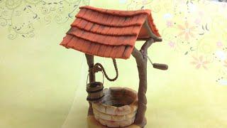 getlinkyoutube.com-Rustic Well/ Polymer clay (Fimo soft)