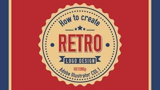 getlinkyoutube.com-How to create RETRO Logo Design in Adobe Illustrator CS5 HD1080p