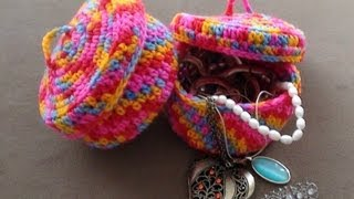 getlinkyoutube.com-Crochet Jewelry Bowl Part 2 continued by Crochet Hooks You