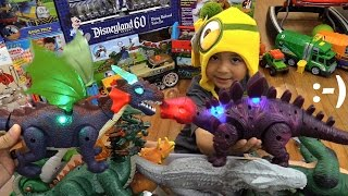 getlinkyoutube.com-Hulyan's DRAGON and DINOSAUR Toys Unboxing and Playtime + An RC Super Sherman Tank