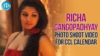 getlinkyoutube.com-Richa Gangopadhyay Photo Shoot For CCL Calendar | Telugu Warriors Brand Ambassador