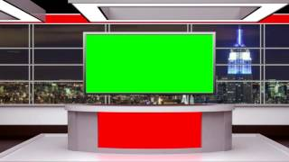 getlinkyoutube.com-FREE GREEN SCREEN | Awesome tv news virtual set