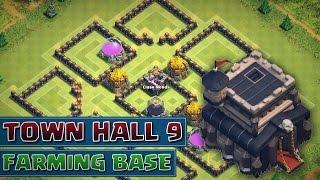 getlinkyoutube.com-Clash of Clans - *NEW BEST* Town Hall 9 (TH9) Farming Base! 4 Mortars - 2015