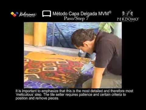 2/2 Glass Mosaic Installation / Colocación de Mosaico Veneciano Tecnikolor