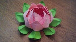 getlinkyoutube.com-How To Make an Origami Lotus Flower