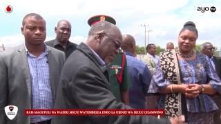 Rais Magufuli alivyotembelea eneo la ujenzi wa Ikulu Chamwino Dodoma