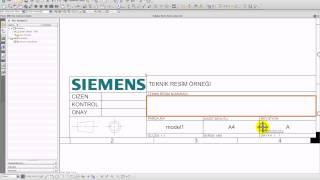 Siemens NX 8.5'te Drawing Sheet template'i ve otomatik doldurma penceresi oluşturma. (TITLE BLOCK)