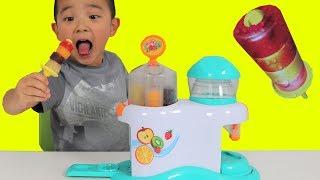 Making Icy Pop Fruity Hoops Factory Fun DIY Yummy Kids Popsicle Maker Ckn Toys
