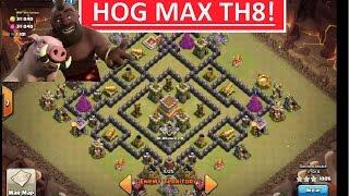 getlinkyoutube.com-TH8 HOGS. 3 STAR MAX TH8 in Clans War.
