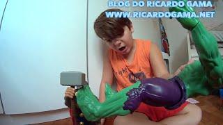 getlinkyoutube.com-Hulk Homem de Ferro e Thor (Marvel Vingadores): Thor luta e enfrentar o Hulk que se descontrolou