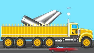 getlinkyoutube.com-Giant Loading Truck | Formation And Uses | Videos For Kids| Heavy Vehicles for Childrens