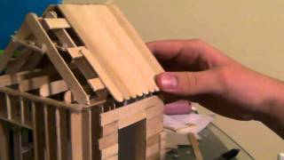 getlinkyoutube.com-[5/6] How To Build a Popsicle Stick House - Roofing Part 2