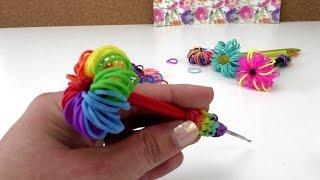 getlinkyoutube.com-Loom Bands Stift Topper - Rainbow Loom Stift Deko selber machen Anleitung deutsch