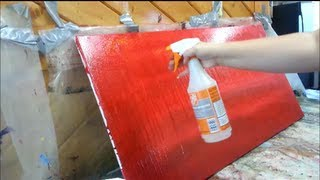 getlinkyoutube.com-How to paint a red subtle abstract background - STEP by STEP