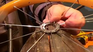 getlinkyoutube.com-Bisiklet Tekerinden Duvar Saati yapımı