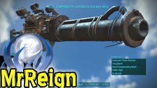 getlinkyoutube.com-Fallout 4 - RAILWAY RIFLE -Weapon Location & Full Mod Showcase
