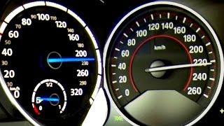 getlinkyoutube.com-BMW 435i vs VW GOLF 7 R Acceleration 0-230 km/h Beschleunigung Test F33 Cabrio Autobahn