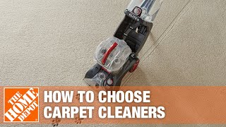 A video details how to choose a carpet cleaner.