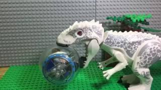 getlinkyoutube.com-LEGO JURASSIC WORLD INDOMINUS REX ATTACKS THE GYROSPHERE