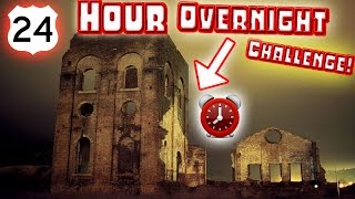 (HAUNTED) 24 HOUR OVERNIGHT CHALLENGE in HAUNTED ABANDONED ANCIENT RUINS!!