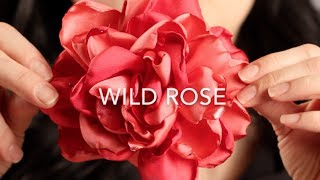 getlinkyoutube.com-How To Make A Fabric Hair Flower | Beautiful Wild Rose!