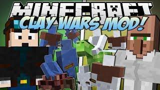 getlinkyoutube.com-Minecraft | CLAY WARS MOD! (Trayaurus vs TDM!) | Mod Showcase