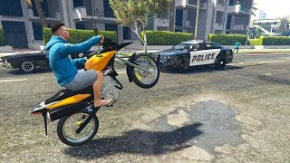 getlinkyoutube.com-GTA V ♠ ROLE DE XRE COM GRAU E FUGA NA POLICIA ♠