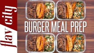 getlinkyoutube.com-Healthy Burger Meal Prep – Easy Meal Prep Recipes
