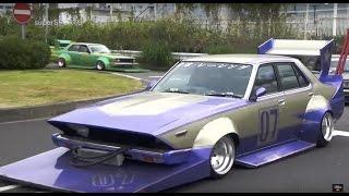 getlinkyoutube.com-【直管竹やりサウンド!】早朝の大黒で旧車軍団に遭遇【HD】Custom Japanese classic car!!