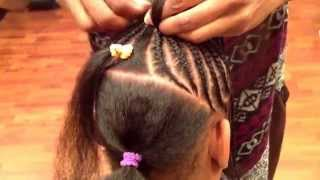 getlinkyoutube.com-Children's cornrow style by Tope at Natural Locs Salon