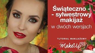 getlinkyoutube.com-Świąteczno - sylwestrowy makijaż w dwóch wersjach - Hania