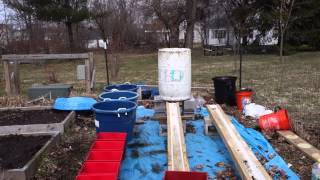 Finishing the Rain Gutter Grow System