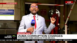 Duduzane Zuma granted bail of R100k  in corruption case width=